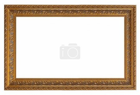 Photo for Golden frame for paintings, mirrors or photos - Royalty Free Image