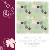 Seamless pattern with a motif of grape leaves