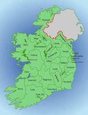Постер Векторная карта Ирландия