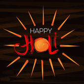 Happy Holi celebration Handwritten lettering for the annual Indian festival of colors Holi