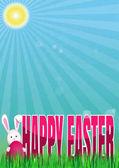 Happy Easter Spring background Vector spring Easter illustration