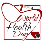 World Health Day 7 April Health Day lettering card