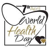 World Health Day 7 April Typographic design