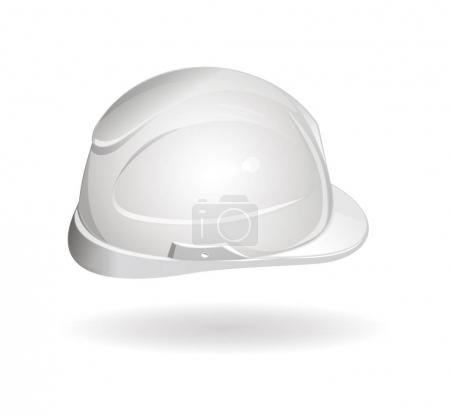 Working helmet side view. Hard hat icon