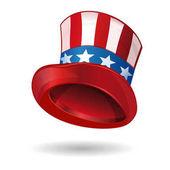 Hat in American flag color Uncle Sams hat