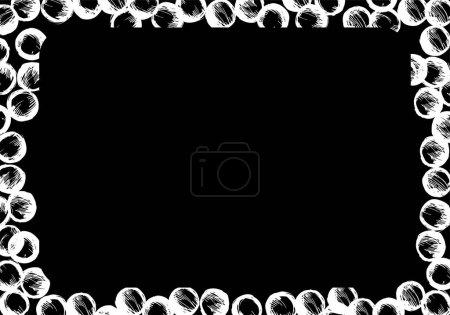 Arrière-plan abstrait. Bulles blanches sur fond noir .