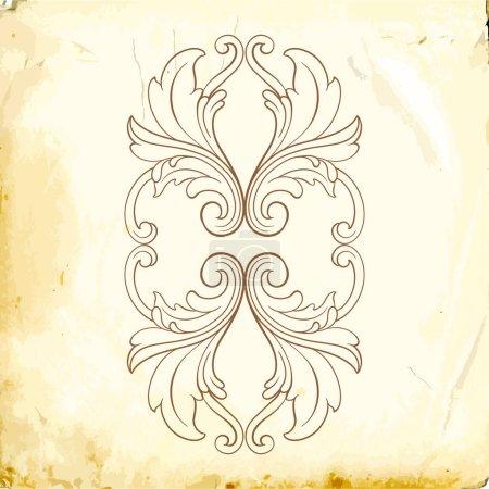 Retro baroque decorations element with flourishes ...
