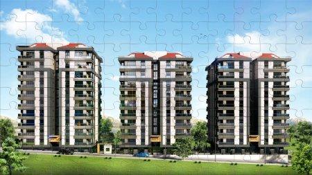 3 buildings jigsaw puzzle