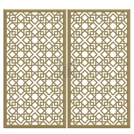 Photo for 3d render of golden color metal decor texture - Royalty Free Image