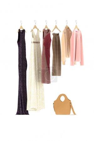Photo pour 3d rendu de robe de femme de mode - image libre de droit
