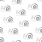 Snail sketch seamless pattern Snail outline on white background wallpaper with snails