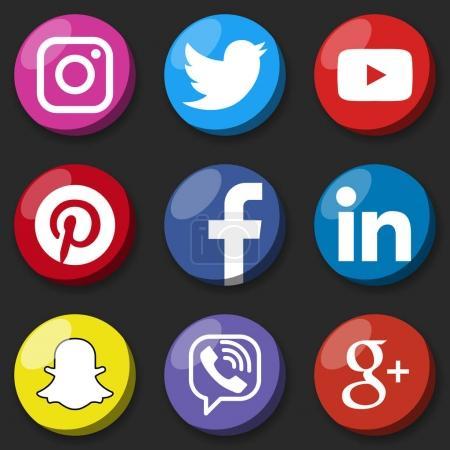 Round social media logo or
