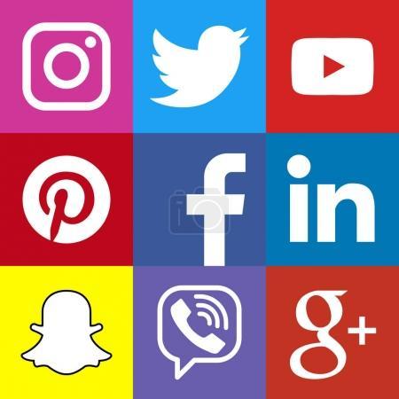 Square social media logo or