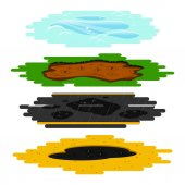 Puddles of different types set