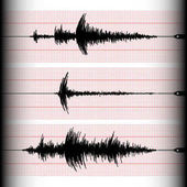 Seismogram graph recording
