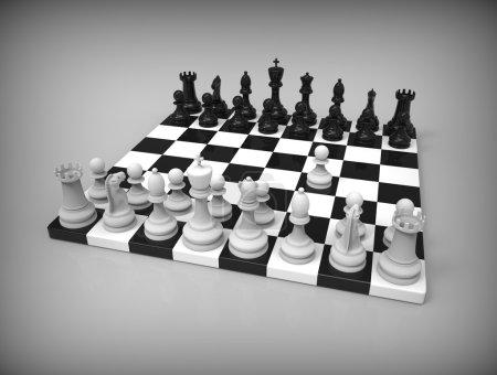 schach auf dem hintergrund