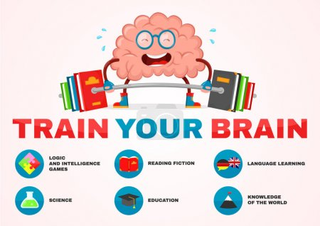 train your brain infographic brain