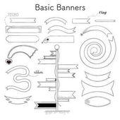 Sketched banners vector set
