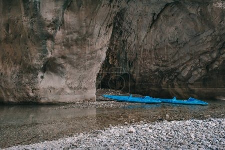 Two kayaks in beautiful canyon Goynuk