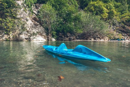 Single kayak in the canyon
