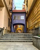 Blue gate in Warsaw