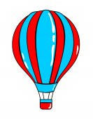 Airballoon cartoon sticker in retro style