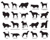 Set of dogs silhouettes-2