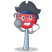 Pirate sweet lollipop character cartoon