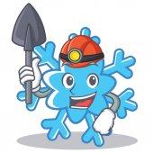 Miner snowflake character cartoon style
