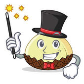 Magician snake fruit mascot cartoon