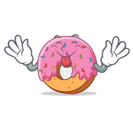 Illustration pour Illustration vectorielle de style mascotte de Donut - image libre de droit