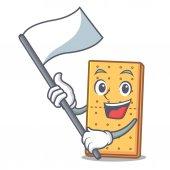 Flag graham cookies mascot cartoon