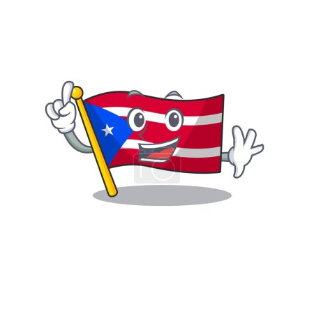 Illustration for Finger flag puerto rico the mascot shape vector illustration - Royalty Free Image