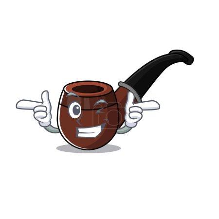 cheerful cartoon the of wink smoke pipe