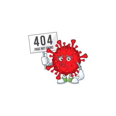 Joyful cartoon character of dangerous coronaviruse...