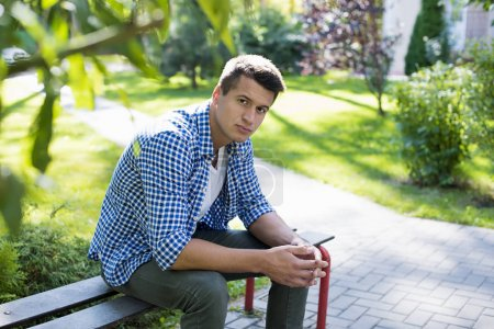 outdoor portrait of young man