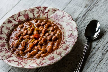 Bean stew / Turkish Barbunya Pilaki in a  plate (p...