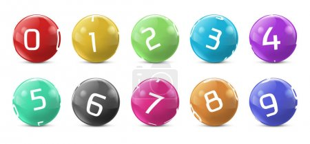 Vector lotto colored balls with