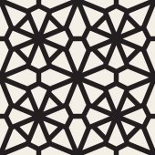 Vector Seamless Black and White Mosaic Lace Pattern Abstract Geometric Background Design