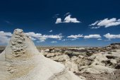wild and remote desert landscape with stone hoodoos