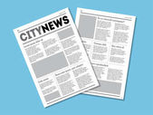 Newspaper City News with Headers Vector