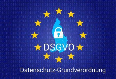 dsgvo - german Datenschutz-Grundverordnung. gdpr - General Data Protection Regulation. vector illustration