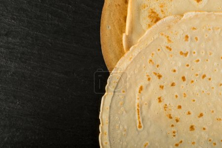 Pancakes on Black Background