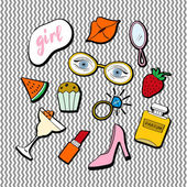 Fashion accessories patches set