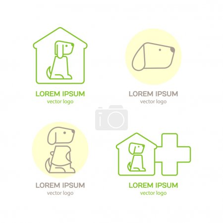 Logo design template for pet