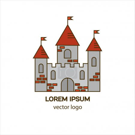 Medieval castle logo