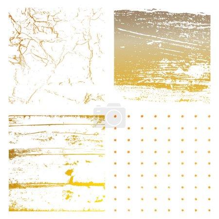 Set of Grunge Distress Textures