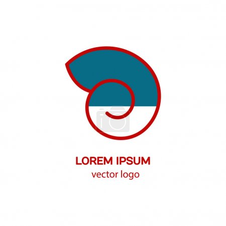 Line style logotype with shell