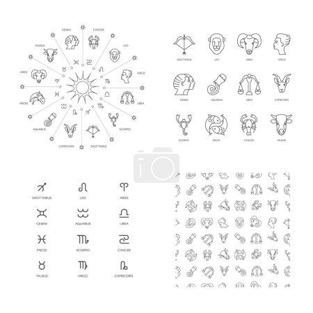 set of astrological symbols