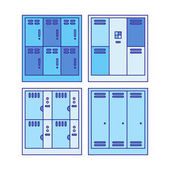 Locker icon set